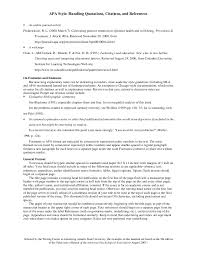 Awesome Collection Of Apa Style Writing Format Example Sample Apa