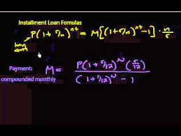loan formulas amortization different installment loan formulas youtube