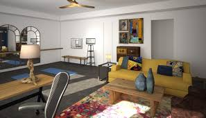 colorful home office. Online Designer Home/Small Office 3D Model Colorful Home E