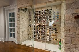 awesome wine cellar glass doors