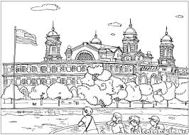 Small Picture Coloring page Ellis Island
