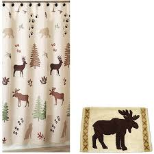 brown green bear deer lodge cabin rustic fabric shower curtain and hooks in on m alibaba com