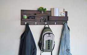 Coat Key Rack Mesmerizing Home Storage Hooks Entryway Organizer Coat And Key Rack Backpack