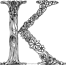 Lets color kite and learn letter k. Beautiful Letter K Coloring Page Coloringall