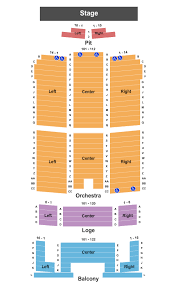 Mcnease Convention Center Seating Chart San Angelo Performing Arts Center Seating Chart San Angelo