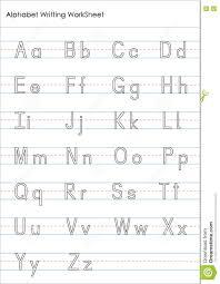 Writing Practice Worksheet Alphabet Writing Practice Worksheet Stock Illustration