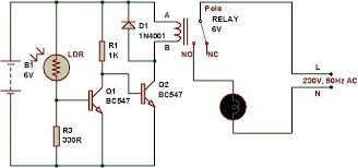 how to use a relay build circuit working 220v
