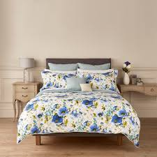 christy poppy duvet cover blue amara