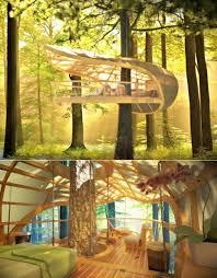 Outdoor: Amazing Three Story Treehouse Design - Treehouse