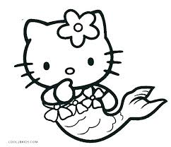 Cute Mermaid Coloring Pages Mermaid Coloring Pages Free Hello Kitty