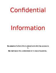 Confidential Cover Sheet By Katie Stewart Teachers Pay Teachers