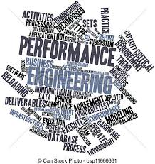 Performance Engineering Abstract Word Cloud For Performance Engineering With Related