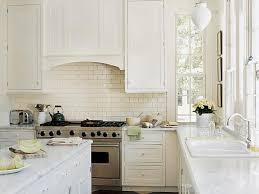 Modern Kitchen With White Subway Tile Backsplash