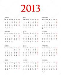Calendar 2013 Template Calendar 2013 Template Stock Photo Pola36 17363797