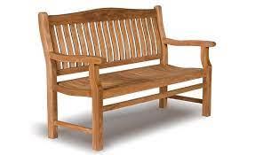 teak garden bench 3 seat high back