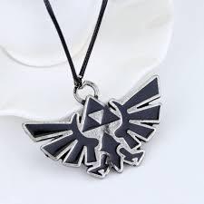us new vintage anime legend of zelda necklace metal pendant jewelry cosplay gift