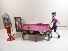 Monster High Furniture Coffin Pool Table by monsterminicustoms