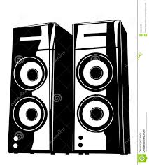music speakers clipart. royalty-free stock photo music speakers clipart