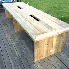 table with built in cooler