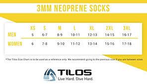 Tilos Neoprene Fin Socks Black L Size 10 5 11 Available