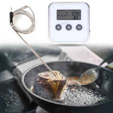 Electronic Thermometer Timer Food Meat Temperature Meter Gauge Food Probe Wireless Electronic Bbq Cooking Temperature Meter Tool