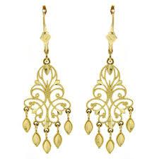 com 14k yellow gold chandelier earrings 15 dangle earrings jewelry