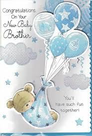 Congratulations On Your Baby Boy New Baby Boy Card Congratulations On The Birth Of Your Brother