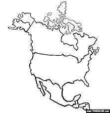 Community Badge North America Coloring Page Free North America
