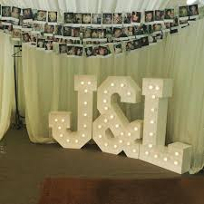 Giant Light Up Letters Hire Giant Light Up Initial Letters Giant Letter Company