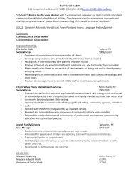 Relief Worker Sample Resume Mental Health Social Worker Sample Resume shalomhouseus 1