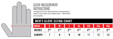 Icon Glove Size Chart