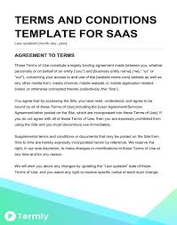 Website Terms And Conditions Template Inspiration Free Terms Conditions Templates Downloadable Samples Termly