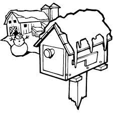 Disegno Di Casa Innevata Da Colorare Per Bambini Disegno
