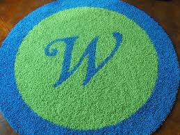 would you like a custom initial rug we would love to create one for you just contact us creativecarpetdesign com