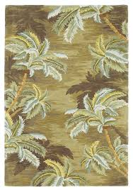 kas sparta 3102 moss palm trees area rug