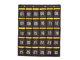 Cell Phone Pocket Chart Loghot Numbered Classroom Sundries Closet Pocket Chart For Cell Phones Holder Wall Door Hanging Organizer Grey 30 Pockets With Digital