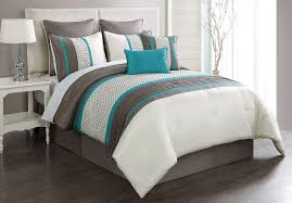 image of turquoise and gray bedding sets queen