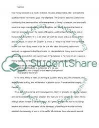 henry v essay