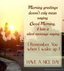 Saying Good Morning Quotes