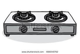 gas stove clipart black and white. gas stoves / cartoon vector and illustration, hand drawn style, isolated on white background stove clipart black e
