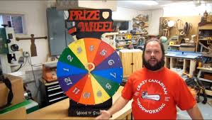 How To Make Wooden Games How To Make A Prize Wheel Prize Spinner YouTube 64