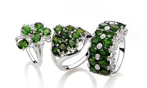 chrome diopside rings