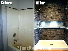 stone shower wall faux stone shower walls panels surrounds