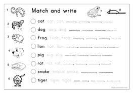 matching letter tracing writing animals 8459 1