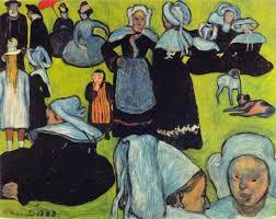 File:Émile Bernard 1888-08 - Breton Women in the Meadow (Le Pardon ...