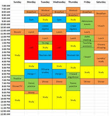 Sample College Class Schedule College Scheduling Barca Fontanacountryinn Com