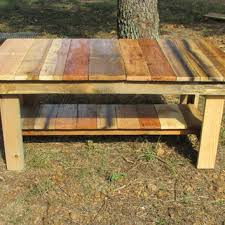 Natural Wood Rustic Coffee Table, Side Table, Living Room Furniture, Solid