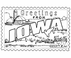 Small Picture USA Printables Iowa State Stamp US States Coloring Pages