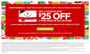 JCPenney Spend $100 on JCP gift card and get $25 off $25 coupon ...