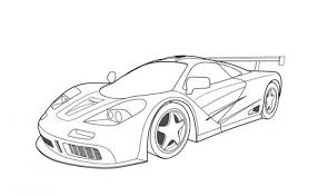 Small Picture Mclaren F1 GTR Race Car Coloring Pages Free Online Cars Coloring